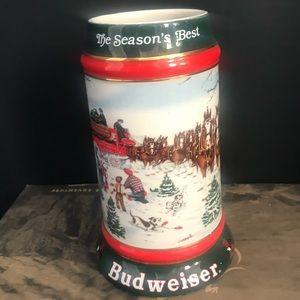 Vintage 1991 Budweiser Collectible Stein